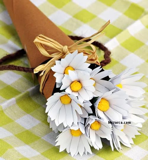 Поделка белый цветок