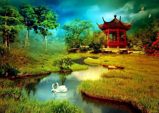 Китайские пейзажи обои на рабочий стол