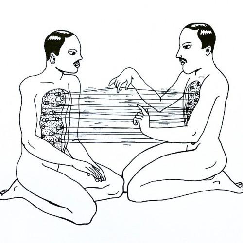 drawing-linesandmarks-penandink-penonpaper-homoerotic-gay-duet-music-electronicmusic-techno-berghain.jpg
