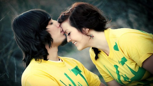 stylish hot couple kissing - photo #3