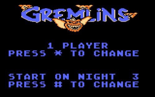 Screen shot from Gremlins for the Atari 5200