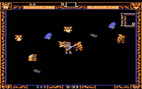 Screen shot from Gremlins for the Atari 5200